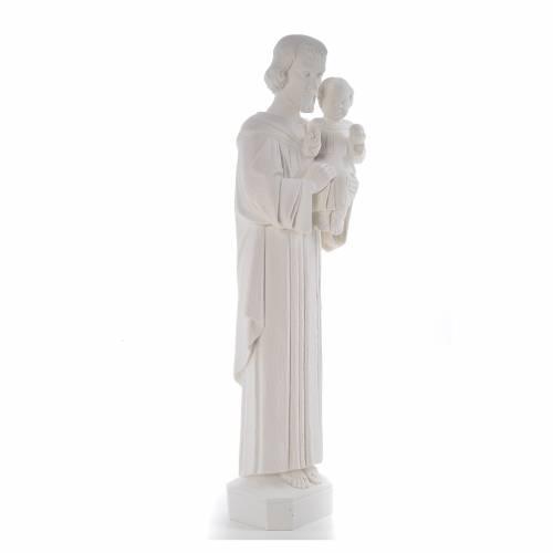 Statua San Giuseppe 65 cm marmo bianco s4