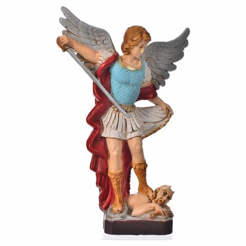 Statua San Michele Arcangelo 16 cm materiale infrangibile s1