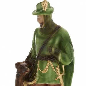Statua Sant'Uberto di Liegi 30 cm gesso s2
