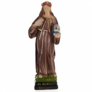 Statua Santa Rosalia 30 cm gesso s1