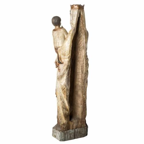 Vierge du Lyonnais 120 cm legno finitura antica Bethléem s4