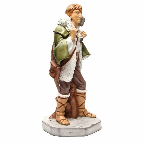 Statue berger avec mouton pour crèche 65 cm s4