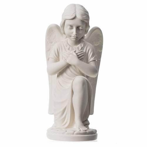 Statue extérieur Ange droit marbre 34 cm s1