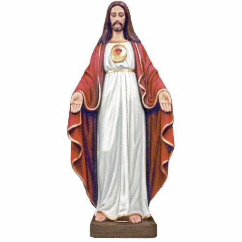 Statue Jésus Christ marbre reconstitué 130cm peinte s1