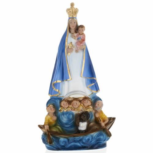 Statue Notre Dame de la Charité plâtre 30 cm s1