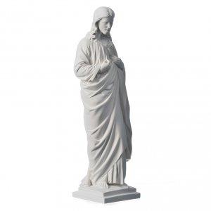 Statue Sacré coeur marbre reconstitué 50 cm s2