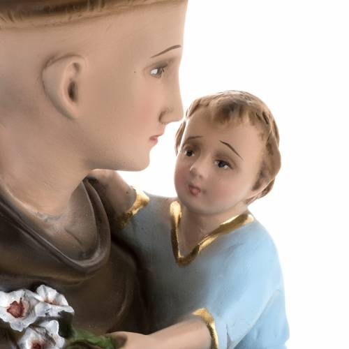 Statue Saint Antoine et enfant plâtre 60 cm s3