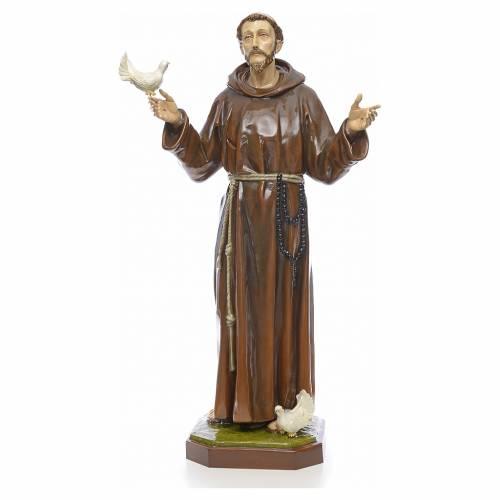 Statue Saint François en fibre de verre 170 cm s1