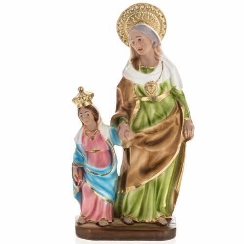 Statue St Anne de Caserta plâtre 30 cm s1