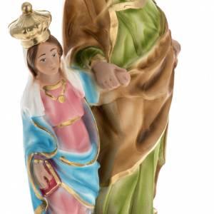Statue St Anne de Caserta plâtre 30 cm s3