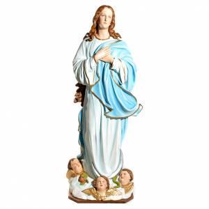 Statue Vierge de l'Assomption marie fibre de verre 180cm s1