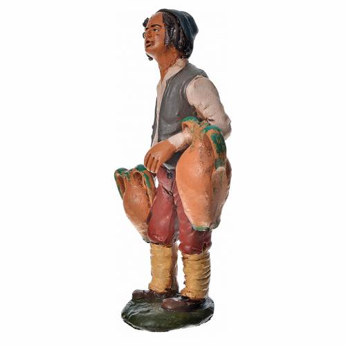 Uomo con anfore terracotta presepe 18 cm s3