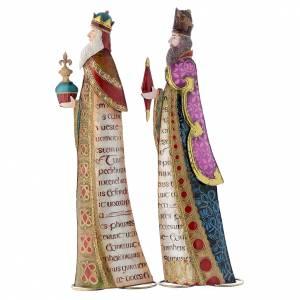 Stilisierte Krippe: Stilisierten Heiligen Könige aus Metall