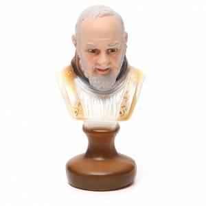 Statues en plâtre: STOCK Buste Saint Pio plâtre 12 cm