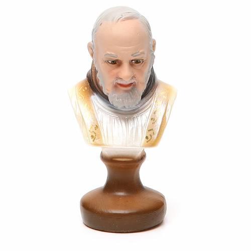 STOCK Buste Saint Pio plâtre 12 cm s1