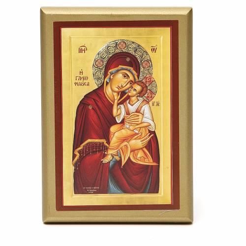 STOCK Cadre Vierge à l'Enfant 15x10 cm s1
