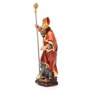 STOCK Statue Saint Blaise bois peint 20 cm s2
