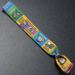 Sonstige Armbände: Stoff Armband mit Lesezeichen Ave Maria