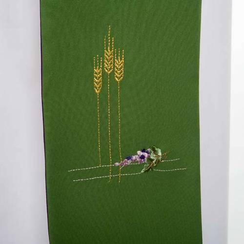 Stola da diacono double face verde e viola s4