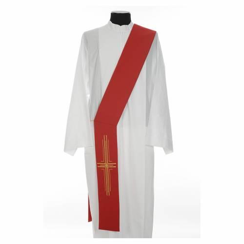 Stola diaconale poliestere croce s3