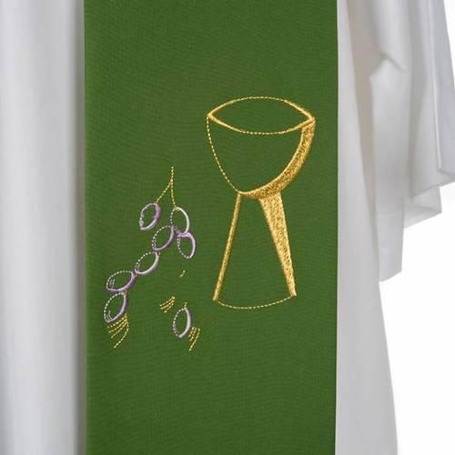 Stola sacerdotale calice uva ricami s7