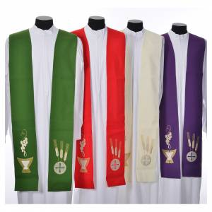 Stoles: Stole, 80% polyester 20% wool with chalice grapes decoration