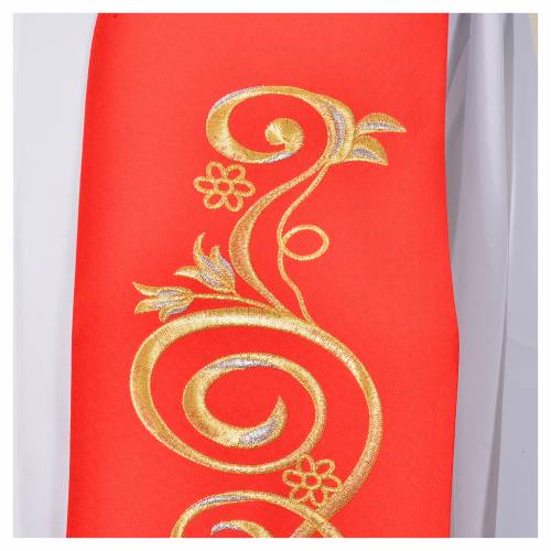 Stole, 80% polyester 20% wool with IHS decoration s3