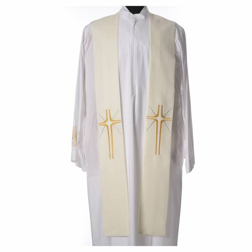 Stole in 100% polyester with cross and rays s3