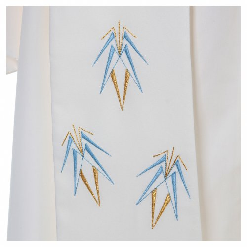 Stole in 100% polyester with Marian embroidery Ave Maria s4