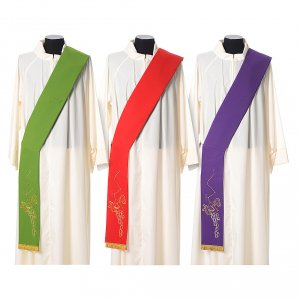Stoles: Stole in polyester with golden vine embroidery