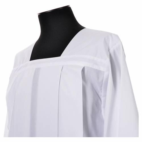 Surplis blanc 100% polyester entretoile dentelle 4 plis s4