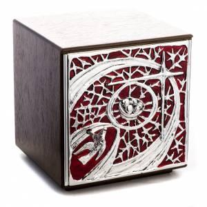 Tabernacle d'autel bois porte en laiton fondu pain s1