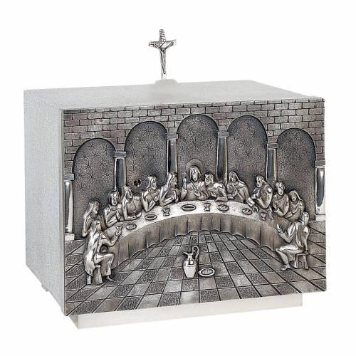 Tabernacolo Molina ornamentale Ultima Cena ottone s1
