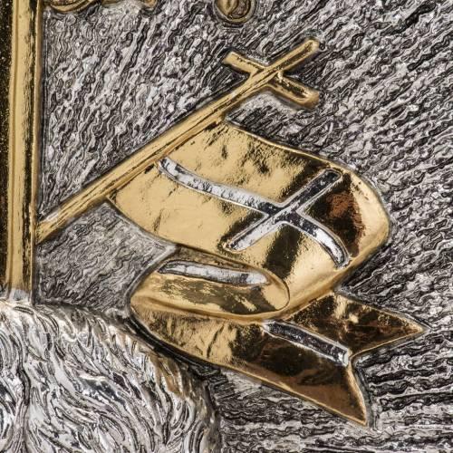 Sagrario de latón ángeles, uva y cruz s12