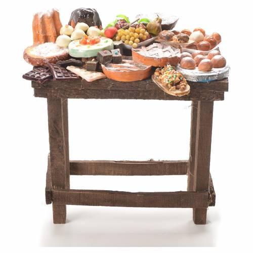 Table gâteaux cire crèche 20,5x20x13 cm s1