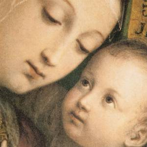 Tableau Notre Dame du bon conseil cadre doré s2