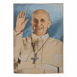 Tapiz con Papa Francisco 47x34cm s1