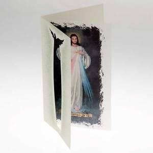 Tarjeta para felicitaciones Jesús de la Misericordia s2