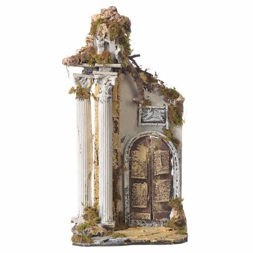Temple with columns and arch for nativities measuring 30x15x12cm s1