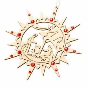 Étoile taillée, crèche Swarovski rouge s1