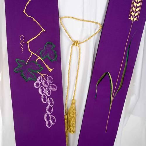 Étole de prêtre raisin et épi de blé s4
