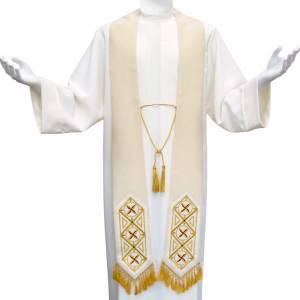 Étole liturgique avec franges en 100% laine s1