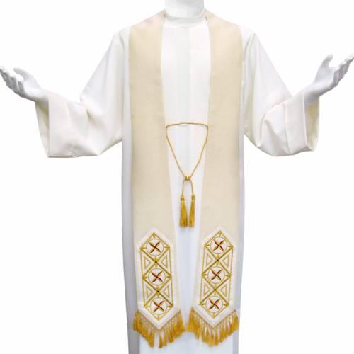 Étole liturgique avec franges en 100% laine 1