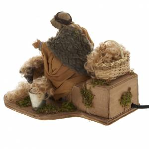 Tondeur de mouton animé 14 cm crèche Napolitaine s4