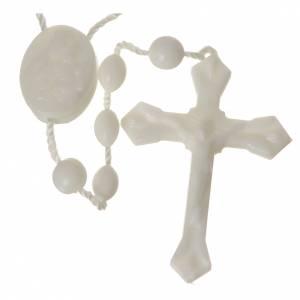 preiswerte Rosenkränze: Tragbarer Rosenkranz weißen Nylon