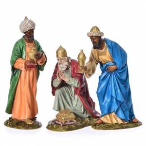 Statue per presepi: Tre Re Magi presepe Landi 18 cm