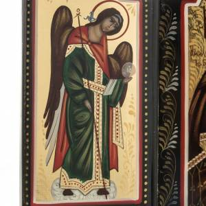 Tríptico ruso Mstjora Madre de Dios Odighitria 17,5x21 s4