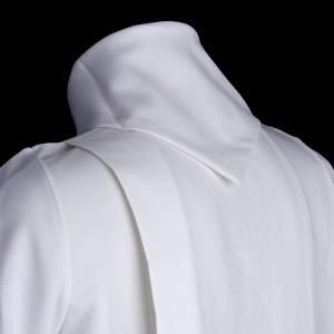 Vestidos comunión: Túnica primera comunión con 2 pliegues falsa capucha
