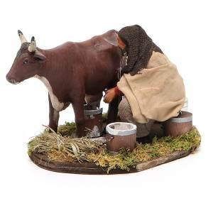 Uomo che munge mucca 12 cm presepe Napoli s2
