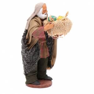 Uomo con cesto di meloni in mano 13 cm presepe Napoli s4